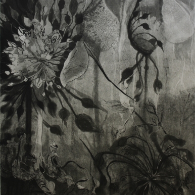 "Intaglio with chine collé, 30"" x 22"""